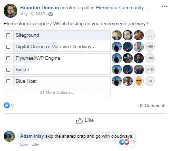 SiteGround poll